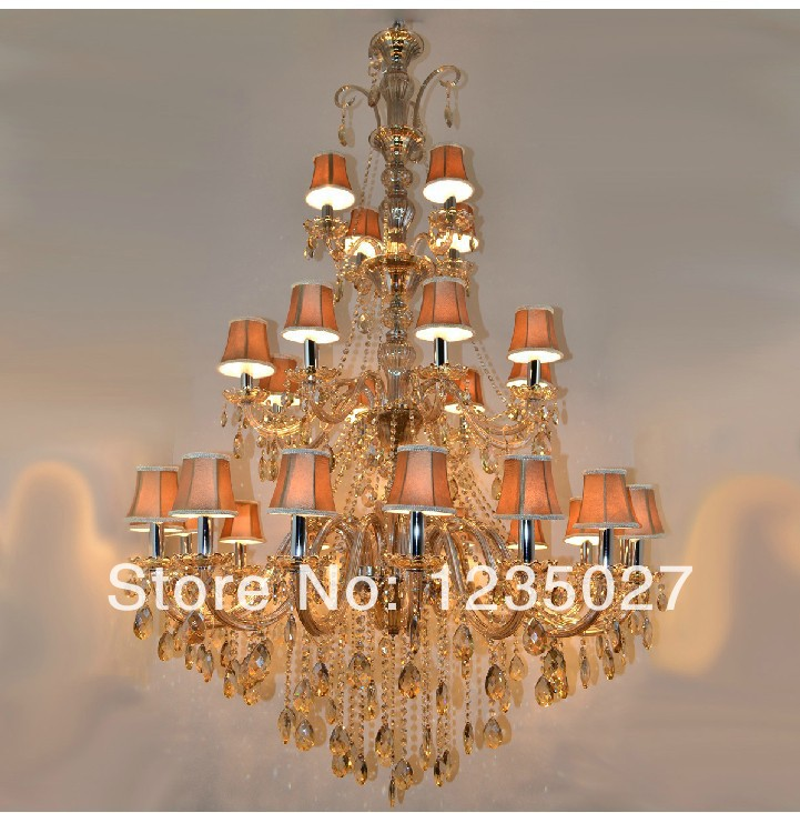 gramercy люстра atom large chandelier 2015 Large Hotel Crystal Chandelier Glass Lights lighting In 3 Tiers With 28 Arms D1200MM H1800MM
