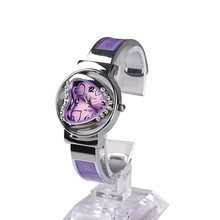 New Style Women Watch Bracelet Bangle Watch Girls Silver Crystal Coronary heart Formed Dial Quartz Wristwatch relogio feminino