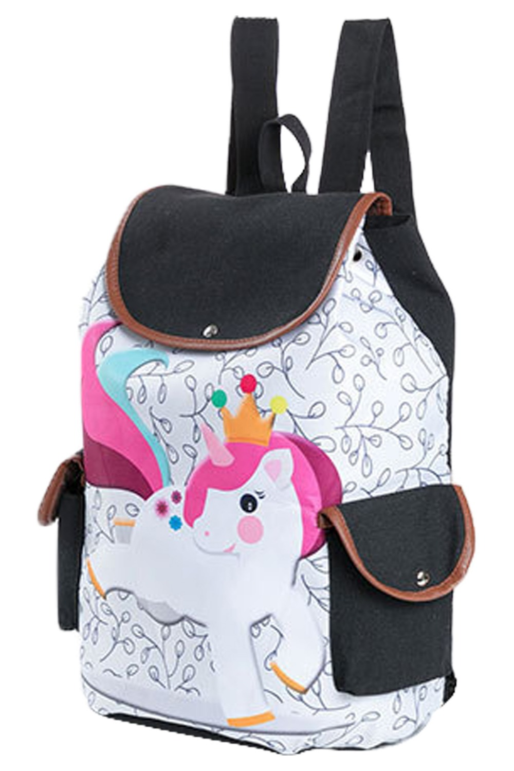 Unicorn womens printing shoulder bag large-capacity student backpack travel backpack