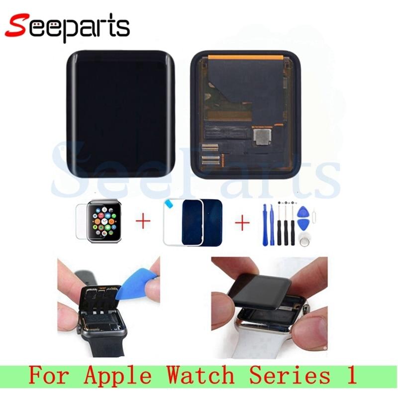 Pour Apple Montre Série 1 LCD Affichage à L'écran Tactile Digitizer 38mm/42mm Pantalla Remplacement Pour Apple Montre LCD + Verre Trempé