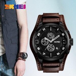 Image 3 - SKMEI Casual Men Quartz Watch Top Brand Luxury Mens Watches Waterproof Stopwatch Calendar Male Clcok relogio masculino 9165