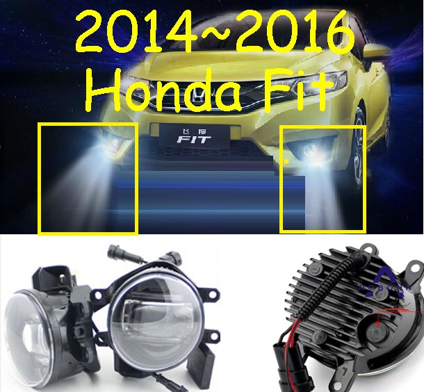 Jazz light,Fit fog light,2pcs,LED,Fit daytime light,Free ship! Jazz Fog lamp,2014~2016,Fit headlight