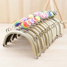 Free Shipping/12 color/ Bronze 12.5 cm Lollipop candy stripe bead Purse Frame,purse frame for DIY Bag Accessories/ Wholesale