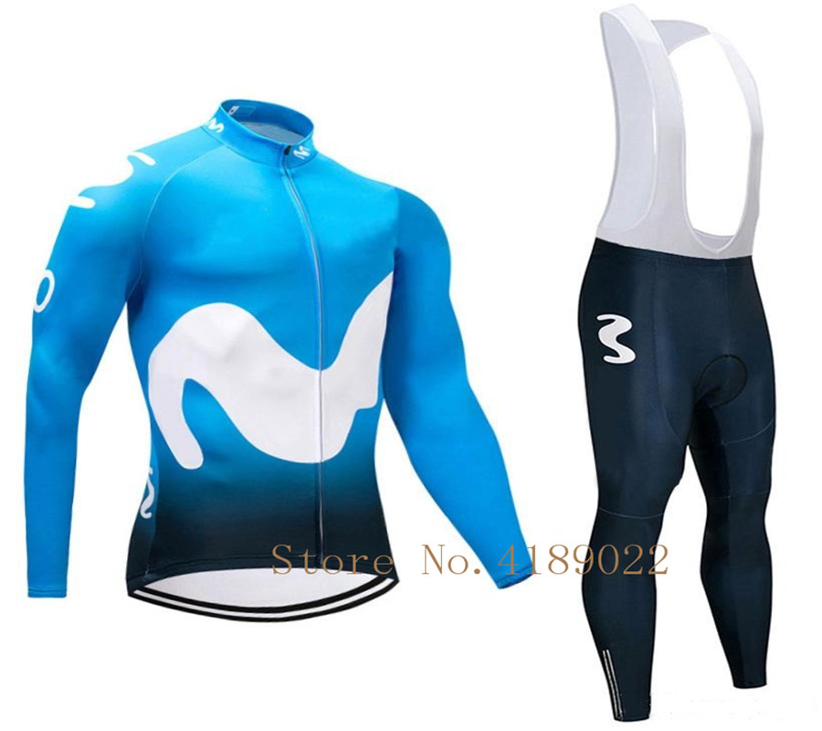 0cfde35e0 Detail Feedback Questions about 2018 Long sleeves in winter EUROPE TOUR  movistar team Spanish Professional champion ciclismo ropa ciclismo cycling  jersey on ...