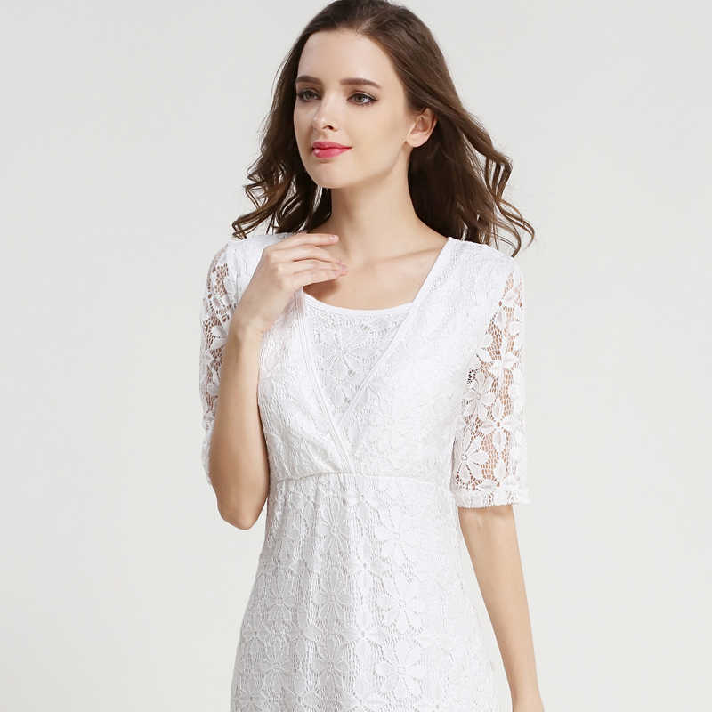 9560fed7abe ... Emotion Moms Lace maternity clothes Party Maternity Dresses  Breastfeeding Nursing Dress for Pregnant Women Pregnancy dress ...