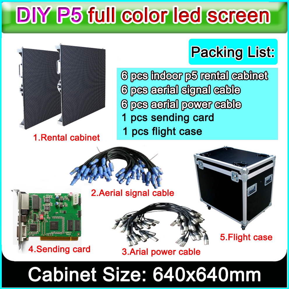 2019 New Images Led Display P5 Indoor Rental Led Display Screen Exclusive Customization