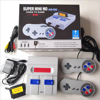 16Bit Retro Mini MD Family TV Video Game Console Handheld Game Consoles Built-in 167 Classic Games PAL&NTSC Dual Gamepad AV Port
