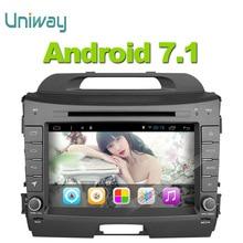 Uniway 2G + 32G 2 din android 7.1 dvd del coche para kia sportage 2014 2011 2009 2010 2013 2015 car stereo radio reproductor multimedia