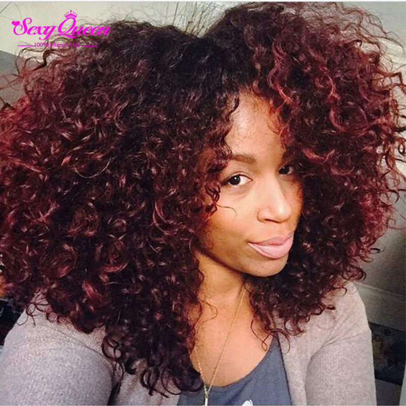 Ombre Jerry Curl Virgin Hair With Closure Vip Malaysian