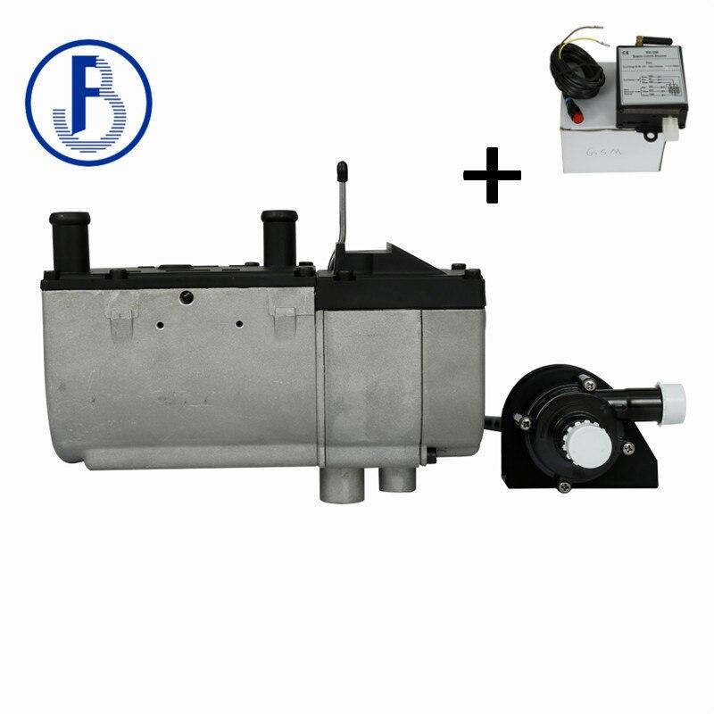 Avec GSM contrôle liquide parking chauffage diesel 24 v 5kW avec pompe à eau à l'extérieur pour camion camping-car etc.