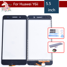 Y6ii touch screen For Huawei Y6 II honor 5A SCAM-L23 CAM-L03 CAM-L21 TouchScreen Sensor Digitizer Glass Lens Front Panel