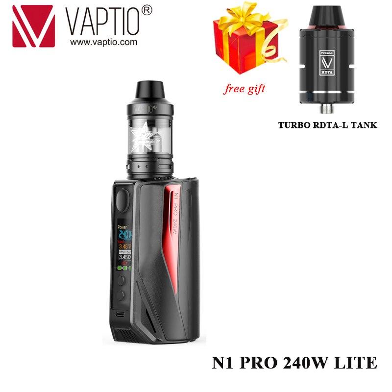 Dom tanque Vape Kit Vaptio N1 Pro 240 W LITE KIT Cigarro Eletrônico Com atomizador 2.0 ml/5.0 ML caixa MOD