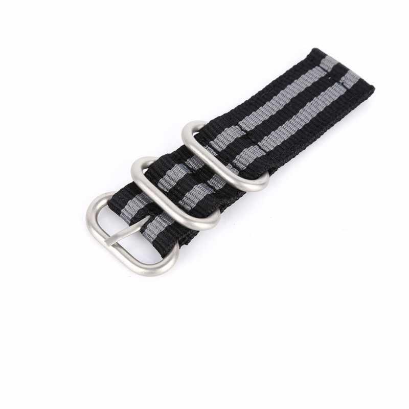 2019 часы ремешок 2 суставов нейлон Дышащий моющийся толстое кольцо булавки пряжками браслет легкий наручные полосы