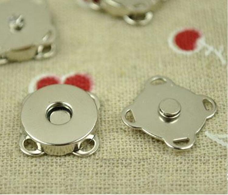 50set 10mm nickle Plum Shape Metal Magnet Button for DIY Bags Sew on metal snaps buttons in Buttons from Home Garden