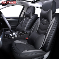 Luxury Leather car seat cover for ford focus 1 2 mk1 mk3 explorer fiesta mk7 courier kuga mondeo mk3 mk4 cmax figo ranger s max