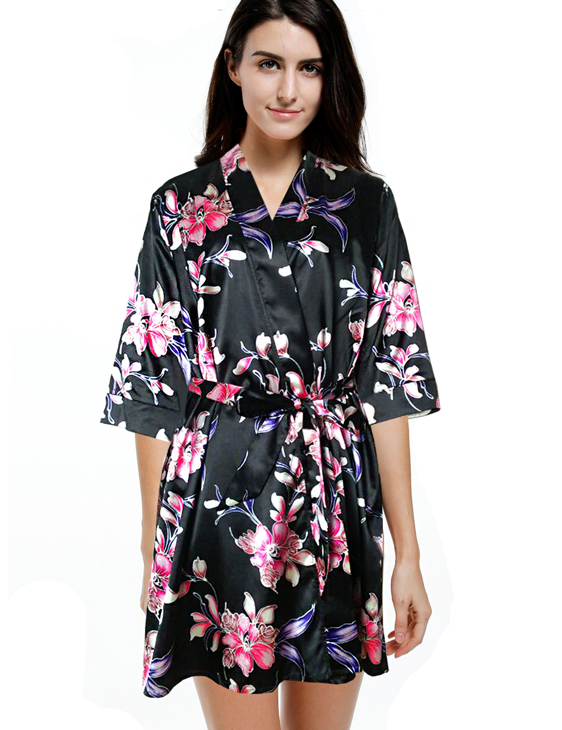 Blooming Jelly Summer Robe Floral Bathrobe Dressing Gown ...