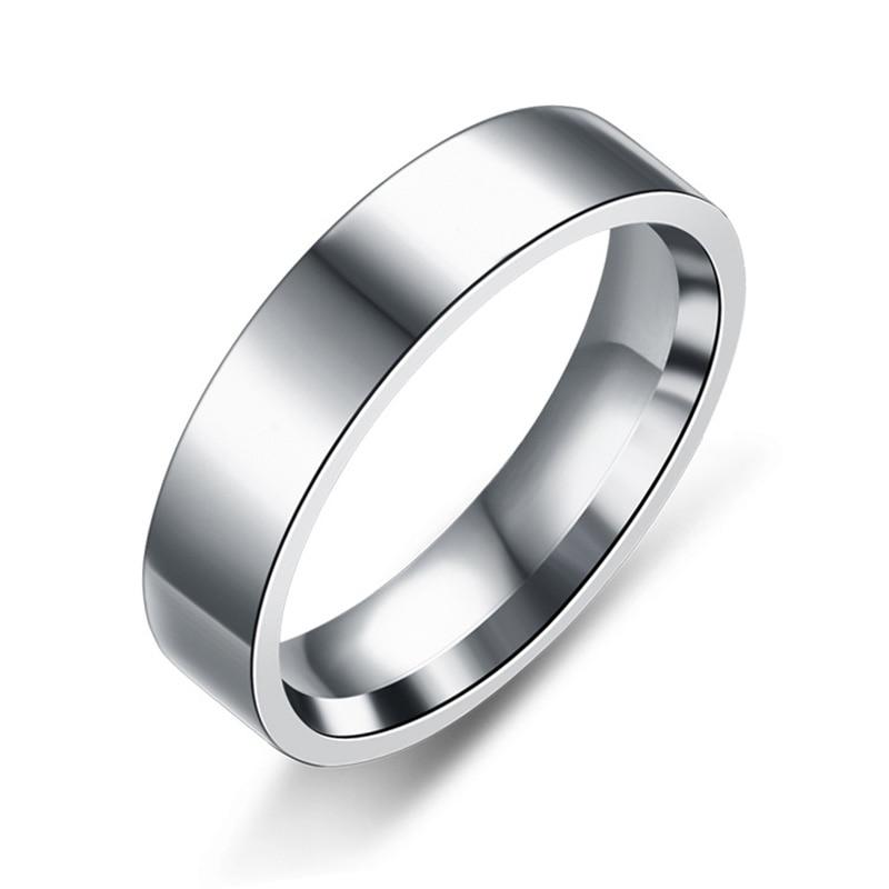 Модные черные кольца из нержавеющей стали для женщин, обручальные кольца, мужские ювелирные изделия, ширина 6 мм