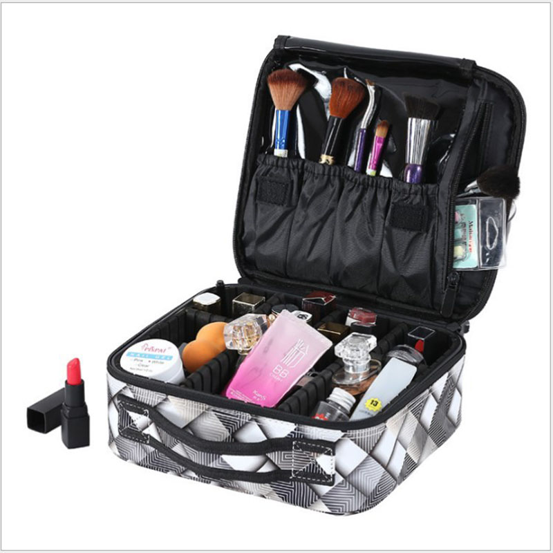 Women High Quality Professional Makeup Bag Organizer Large Capacity Waterproof Portable Cosmetic Bag Beauty Manicure Storage Bag in Storage Bags from Home Garden