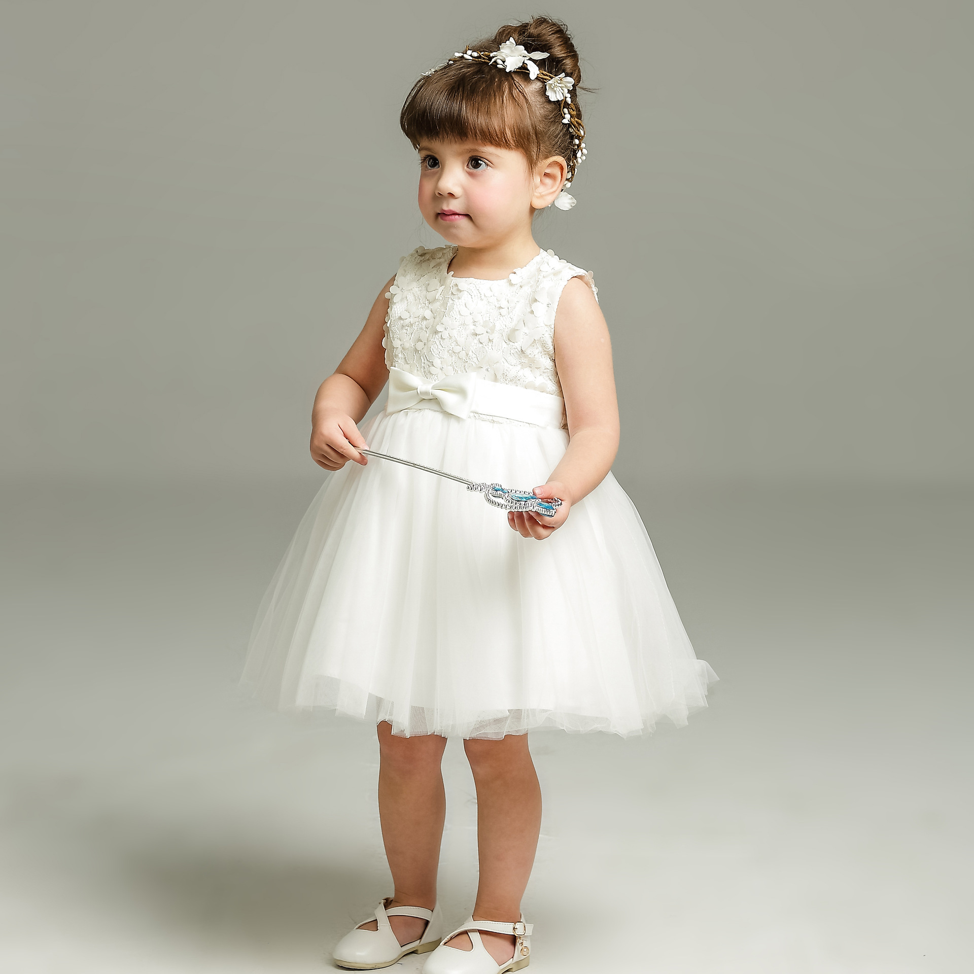 Toddler Infant Kids Baby Girls Lace Strap Floral Dress Clothes Princess Casual Dresses Dream Room Dresses