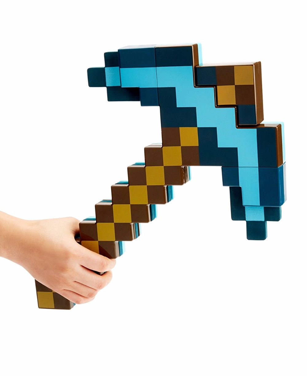SHANG JI X 2 in 1 Minecraft toy Transforming Diamond Swords and Pick axe Variant weapon with Light and Sound For Kids Gifts все цены