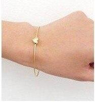 Fashion simple gold color peach heart bangle bracelet S5003