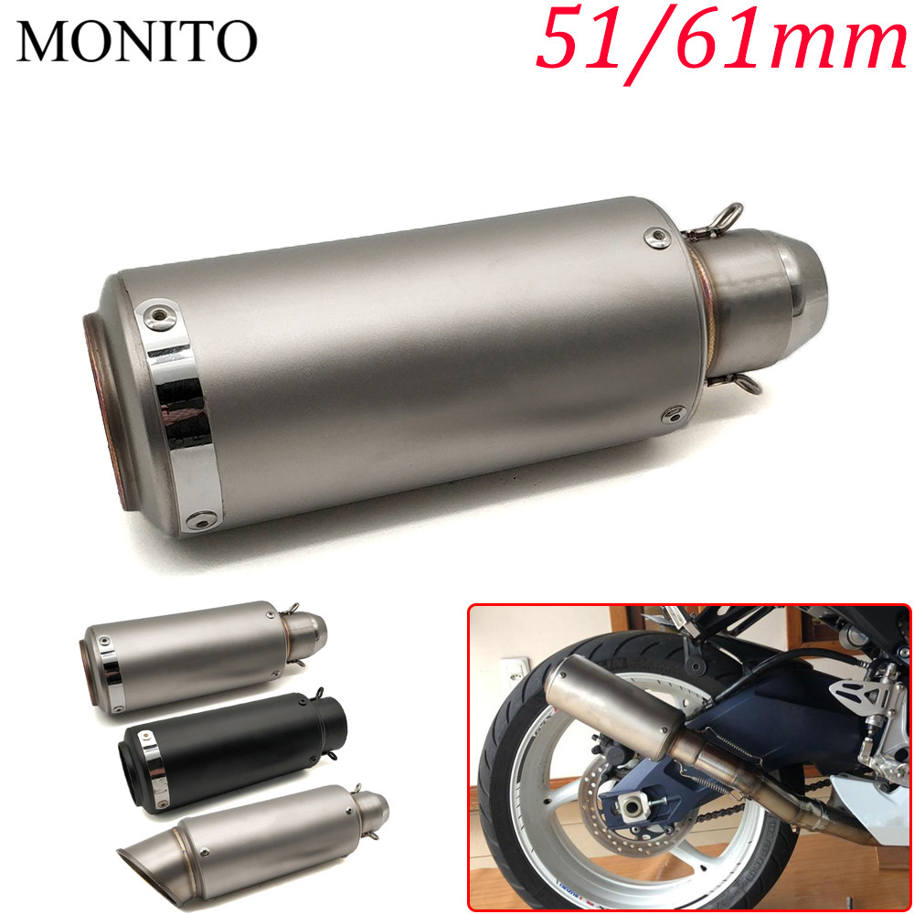 2019 Motorcycle SC exhaust escape Modified Exhaust Muffler DB Killer For KAWASAKI NINJA 650R ER6F ER6N ZZR1200 ER5 GPZ500 EX500 in Exhaust Exhaust Systems from Automobiles Motorcycles