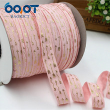 OOOT BAORJCT,1762843, 5/8» 16MM Bronzing elasticity Ribbon , 10 yards DIY handmade hair accessories Material , free shipping