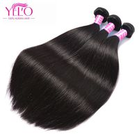 YELO Remy Hair Extension Indian Straight Hair Weave Bundles 1Piece Only 10-26 Inch Human Hair Weft Can Be Dyed And Bleached