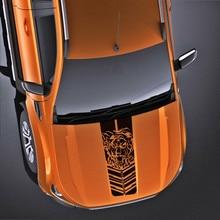 free shipping 1pc bonnet hood scoop tiger  stripe vinyl graphics sticker for ford ranger wildtrak 2012 2013 2017