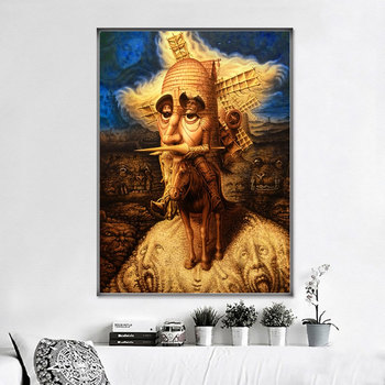 Abstract Decoration Pictures Canvas Painting Don Quixote Oil Paintings 3
