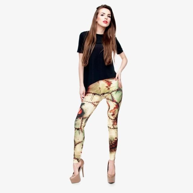 New Fashion workout Leggings Digital 3D FRANKENSTEIN PATTERN printed Women Leggings For Fashion Dress