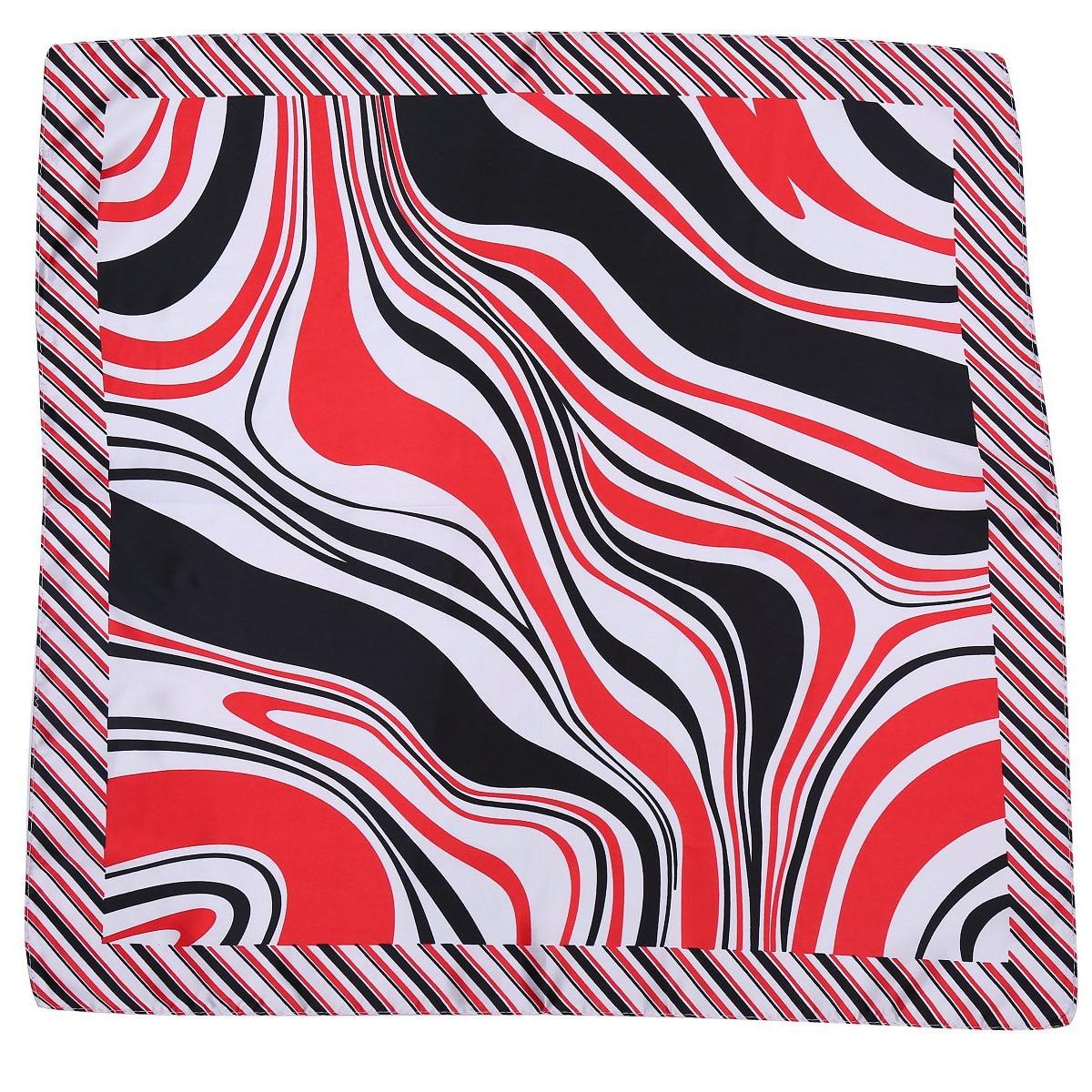 2017 New Bag Scarf Satin Silk Zebra Print Handkerchief Scarves Shawl Hijab Square Scarves OL Wome Necklace Wrap Handbag Bufandas