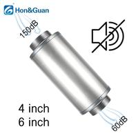 Hon&Guan 4'' 6'' Duct Silencer, Inline Duct Fan Noise Reducer Blower Silencer for Indoor Hydroponics Tent Ventilation System
