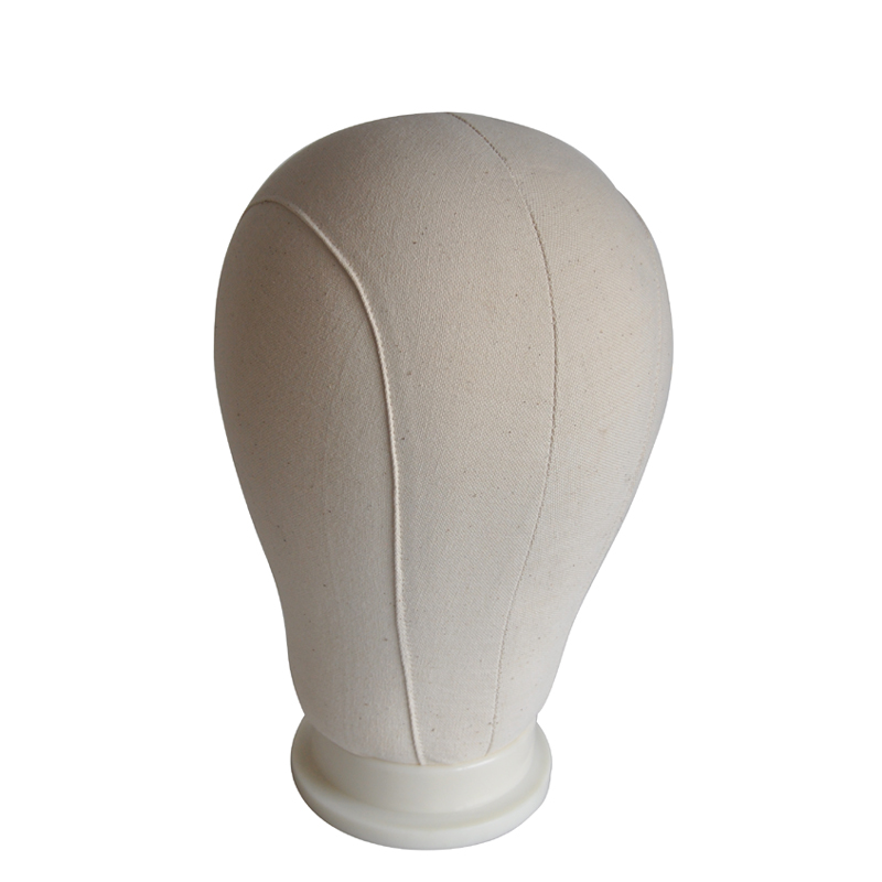 21inch/22icnh/23inch/24inch/25inch Beige Training Mannequin Head Canvas Block Head For Hair Extension Lace Wigs Making
