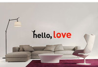 Free shiping DIY vinyl Hello, love wall stickers can remove the sitting room the bedroom wall stickers