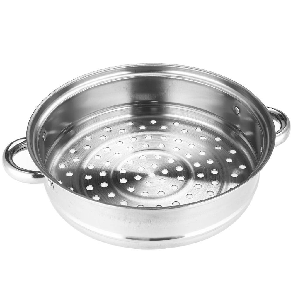 Mayitr Stainless Steel 3 Tier Steamer Induction Dim Sum Steam Steaming Pot Cookware For Home Kitchen