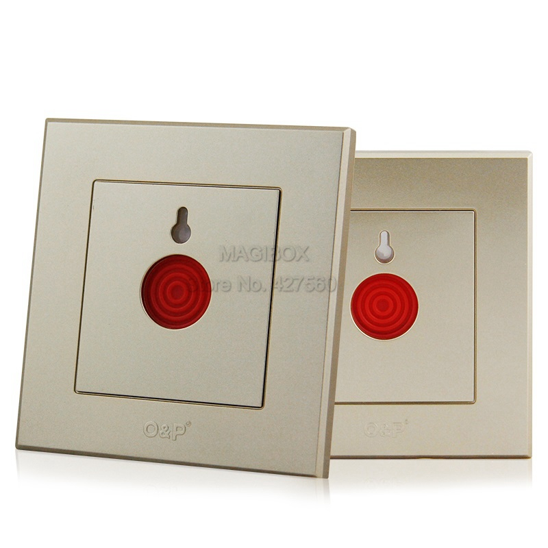 Gold Color Emergency Alarm Button 86*86mm Fire Alarm Emergency Switch Alarm Access Control Switch with Key  alarm button fire emergency call luxury switch panel alarm with key brushed silver stainless steel sos panel