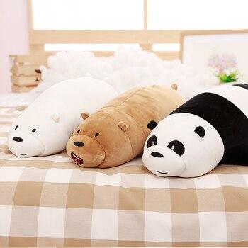 1 шт. 50 см Мы bearsBare бурый медведь белый медведь панда куклы плюшевые игрушки забавные стеганые хлопок подушка подарок ко Дню Святого Валентин...