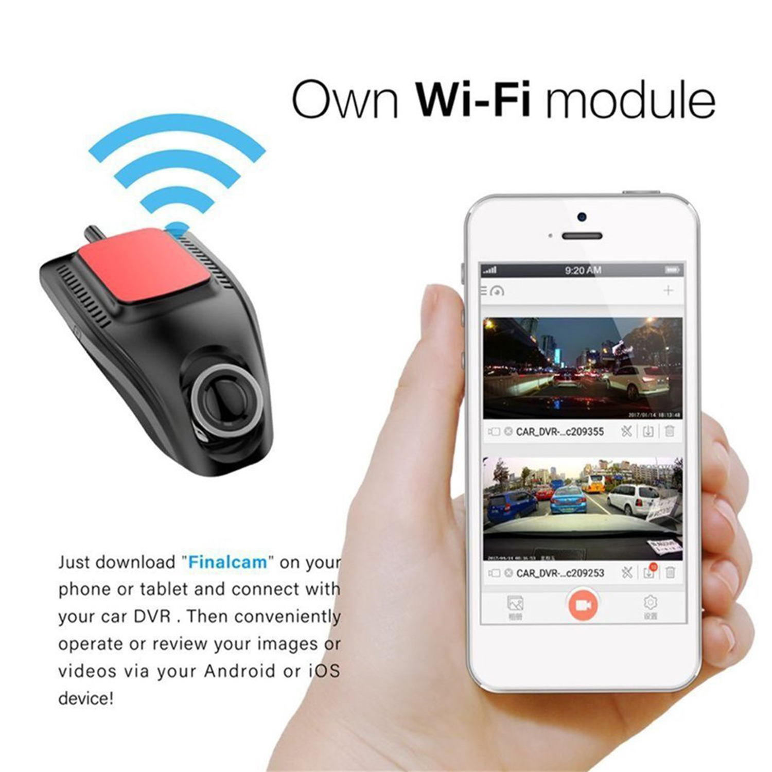 new Small Eye Dash Cam Car DVR Recorder Camera with Wifi Full HD 1080p Wide Angle Lens G Sensor Night Vision Dash Cam-in DVR/Dash Camera from Automobiles & Motorcycles