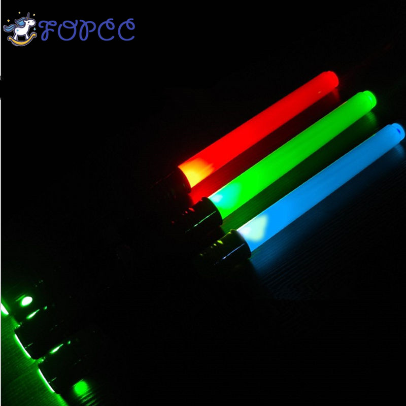 Boy Girl Gift Luminescent Music Telescopic Star Wars Laser Sword Lightsaber Cosplay Props Children's Flashing Toys Light Stick 2pcs cosplay star wars lightsaber sound telescopic led flashing light sword toys weapons sabers pvc action figure toy gifts boys