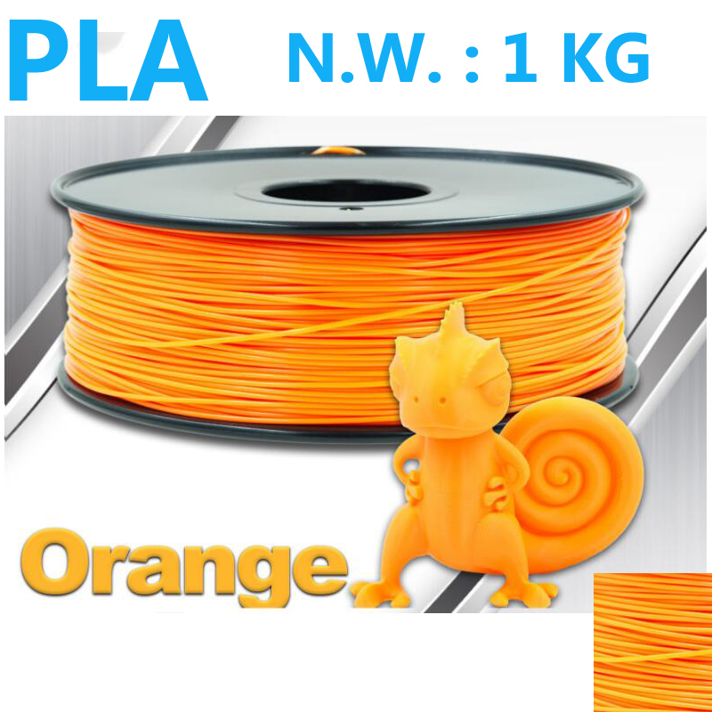 Orange farbe 3d filament pla filament 1,75mm 1 kg 3d stift kunststoff - Büroelektronik