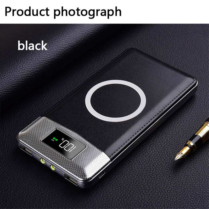 2018 verkauf Quick Charge Wireless Power Bank Dual USB Power Bank 30000 mah Drahtlose Ladegerät Power Bateria Externe Tragbare