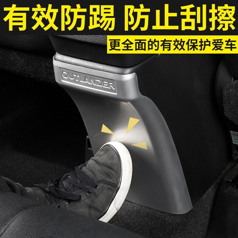De haute qualité ABS Chrome Accoudoir Boîte Arrière Planche Coussins de Frappe Pour 2013-2018 Mitsubishi Outlander, Voiture de Coiffure