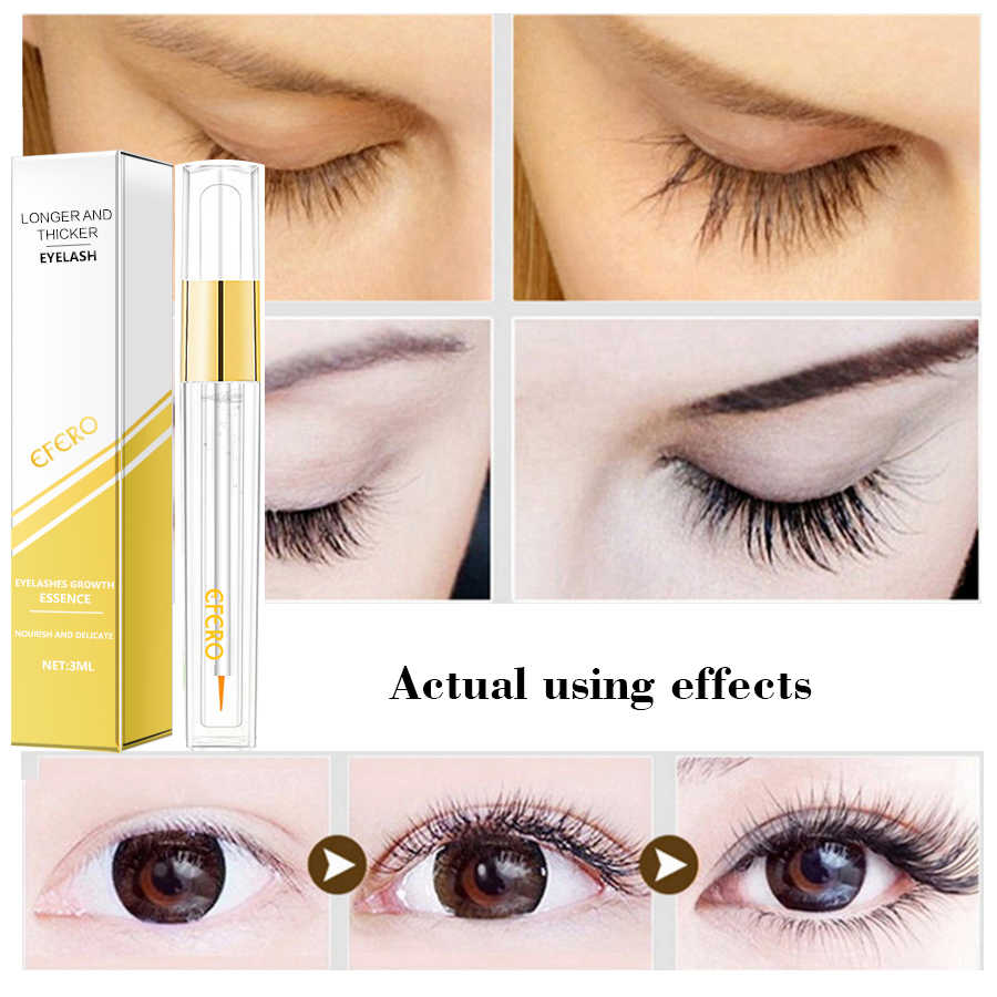 ce1f0ea39cf ... EFERO Eyelash Growth Serum Curling Eyelash Enhancer Mascara Essence  Natural Longer Thicker Lashes Eyelashes for Makeup ...