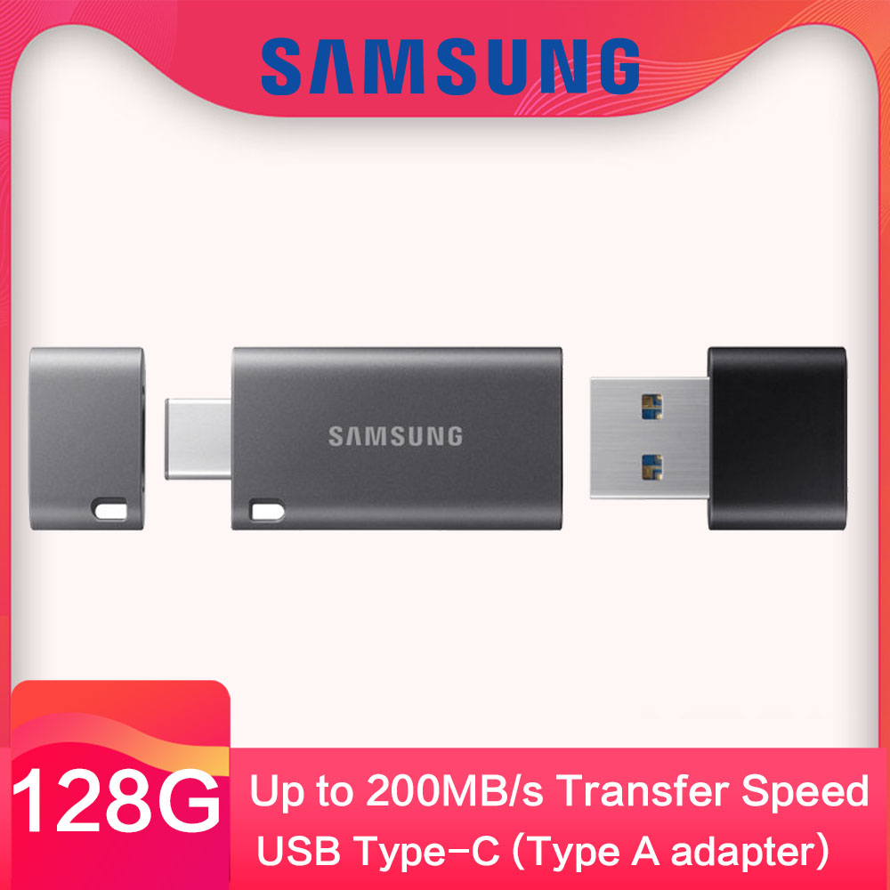 Samsung USB 3.1 Type C DUO Flash Drive 32GB 64G 128G Speed Up to 300MB/S Memory Stick Pen Drive for Laptop mobile phone