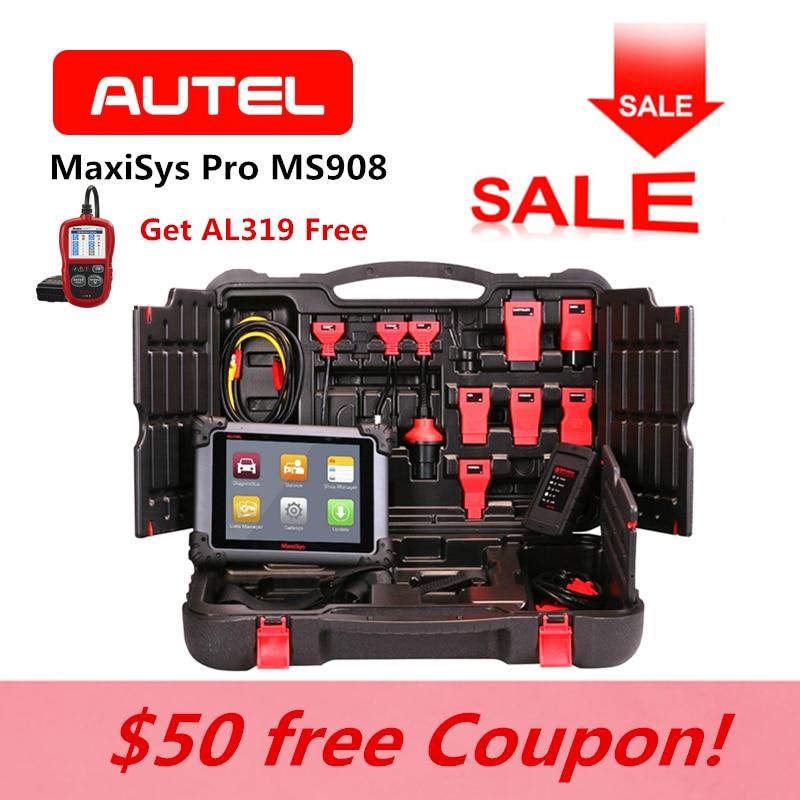 AUTEL MaxiSys Pro MS908 OBD2 Fault Code Reader Auto ECU Coding Car same as MY908 Key Programming Diagnostic Reset AL319 for Gift
