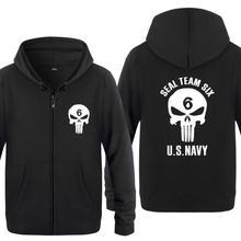Spring Autumn Seal Workforce Six US NAVY Clothes Informal Sweatshirts Hoodies Unisex Jacket Coat