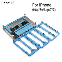 UANME 6 in 1 Logic Board Clamps Metal PCB Board Holder Fixture Work Station for iPhone 6 6S 7 Plus Fix Repair Mold
