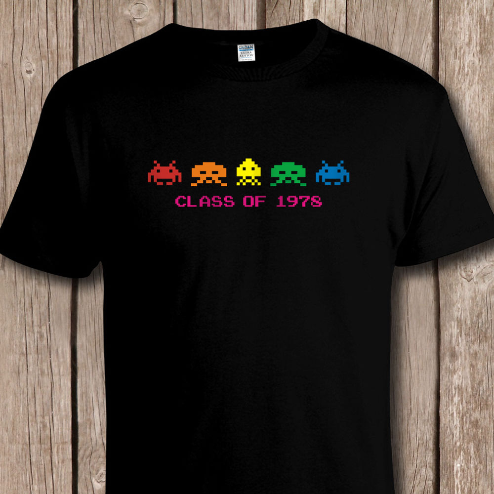 Funny Retro SPACE INVADERS 'Class Of 1978' T SHIRT - C64 / Console Video Games Cool Casual Pride T Shirt Men Unisex New Tshirt