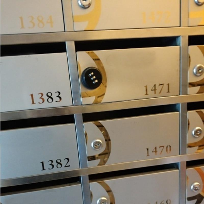 Image 5 - 3 Digit Combination Mechanical Digital Door Lock Wood 30MM Lock Body Keyless Digital Safe Smart Cabinet File Lock Door-in Electric Lock from Security & Protection